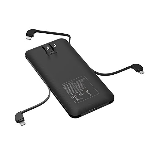 Power Bank with Built-in USB Type C Cable,and Built-in AC