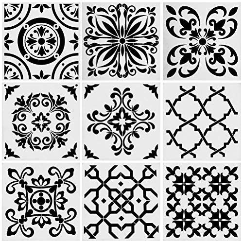 Mexican Tile Stencil Set – for Making Mosaic Tile Stencil
